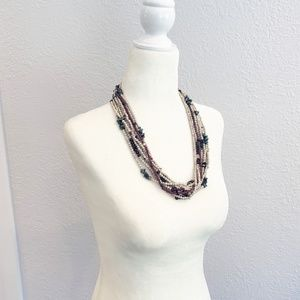 MOVING SALE! Gorgeous Boho Layered Beaded Necklace